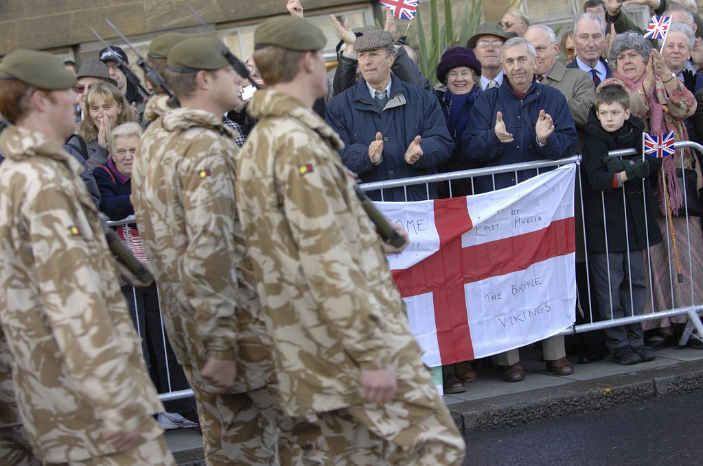 Royal Anglian Homecoming Parade.